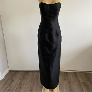 montage by mon cheri silk black strapless dress 8